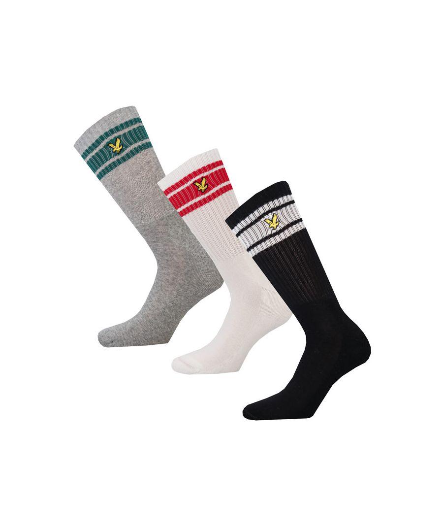 Image for Men's Lyle And Scott Grant 3 Pack Socks in Black Grey White