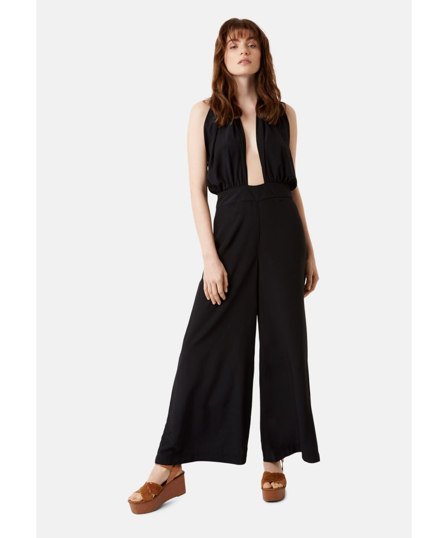 Image for Miami Halterneck 70s Jumpsuit in Black