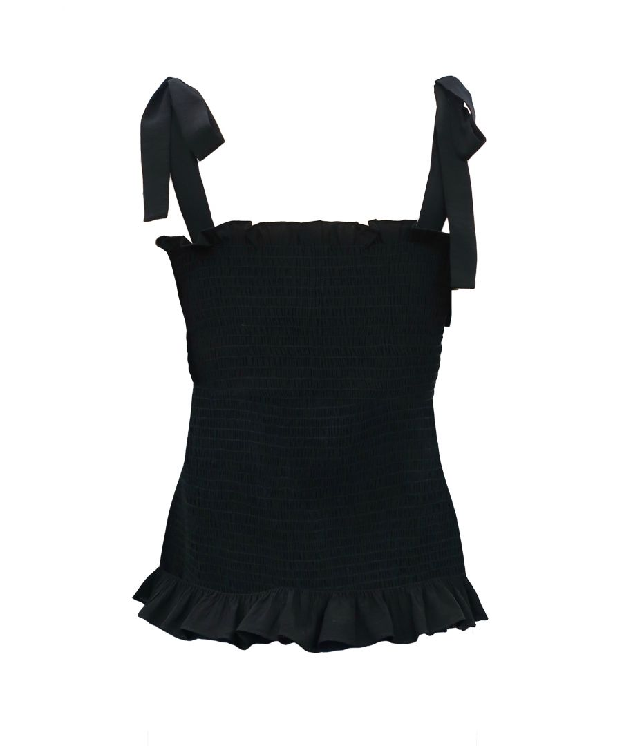 Image for Holy Moly Stretch Sleeveless Top in Black