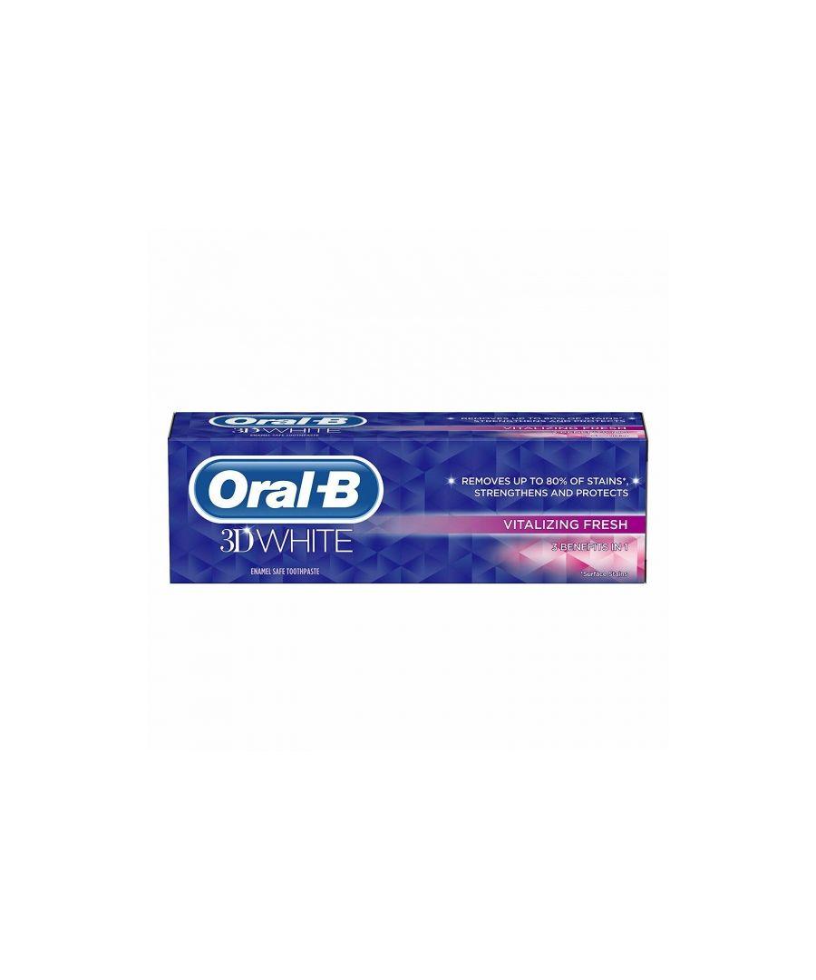 Image for Oral B 3D White Vitalizing Fresh White Toothpaste 75ml