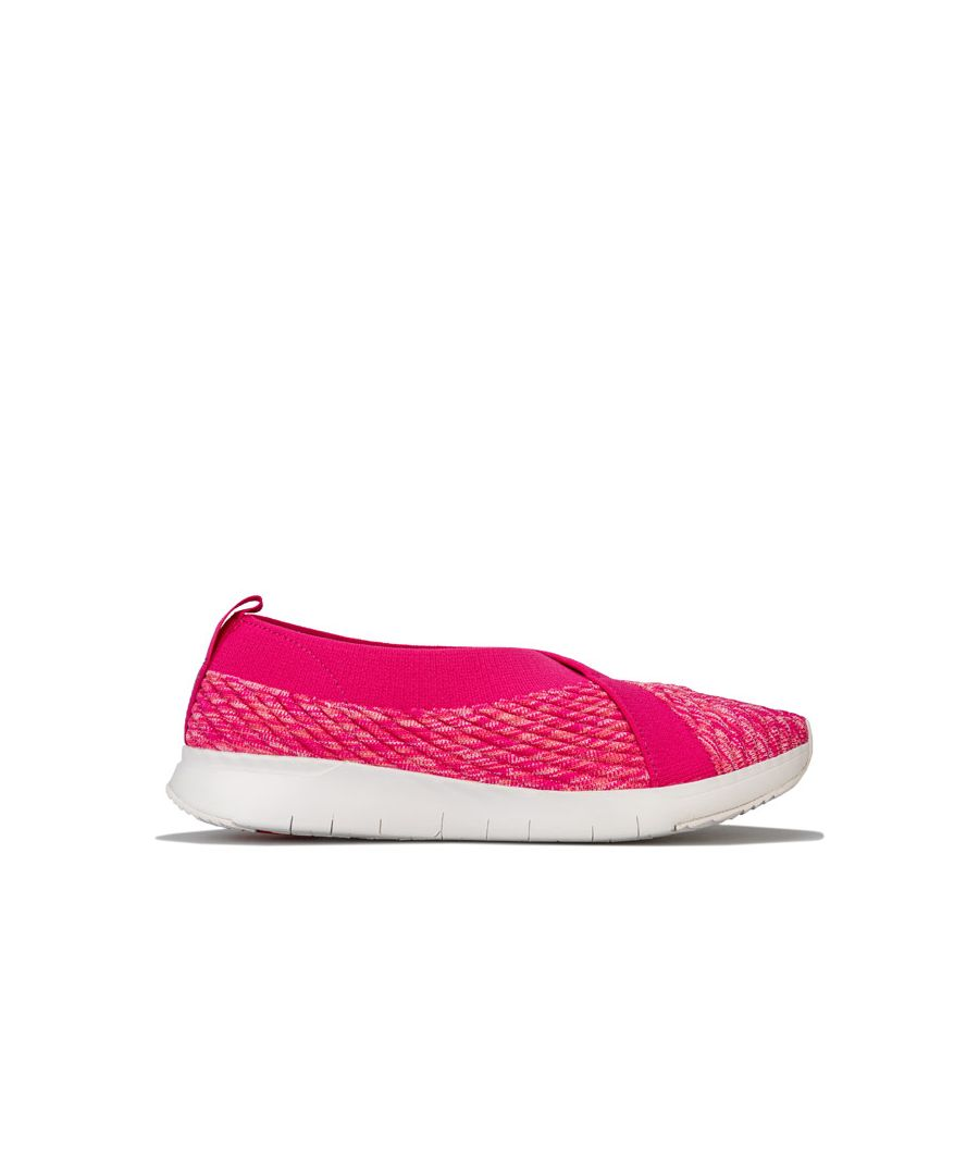 Image for Women's Fit Flop Artknit Ballerina Shoes in Pink