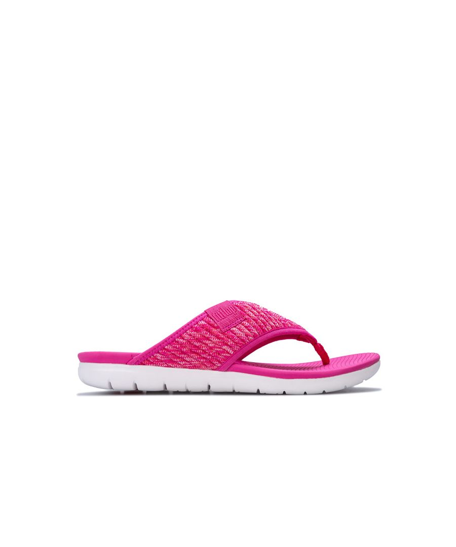 Image for Women's Fit Flop Artknit Toe Thong Sandals in Pink
