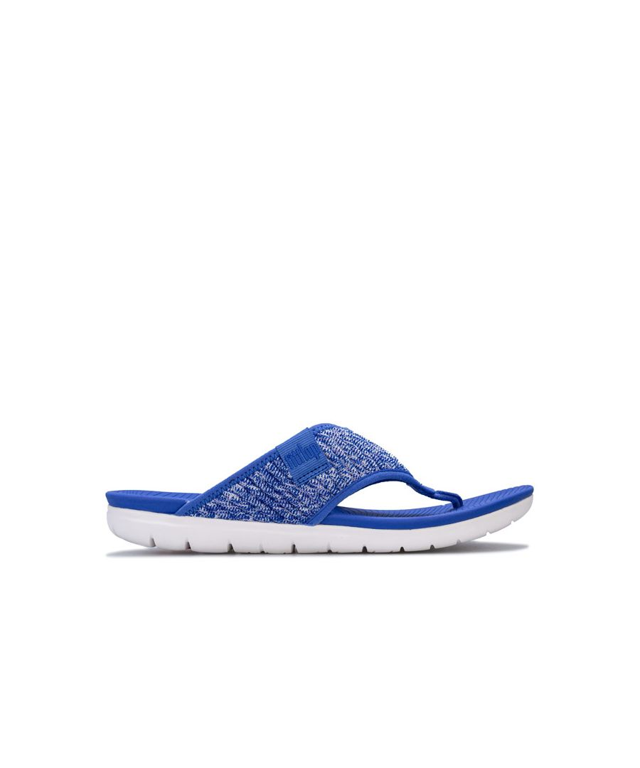 Image for Women's Fit Flop Artknit Toe Thong Sandals in Blue