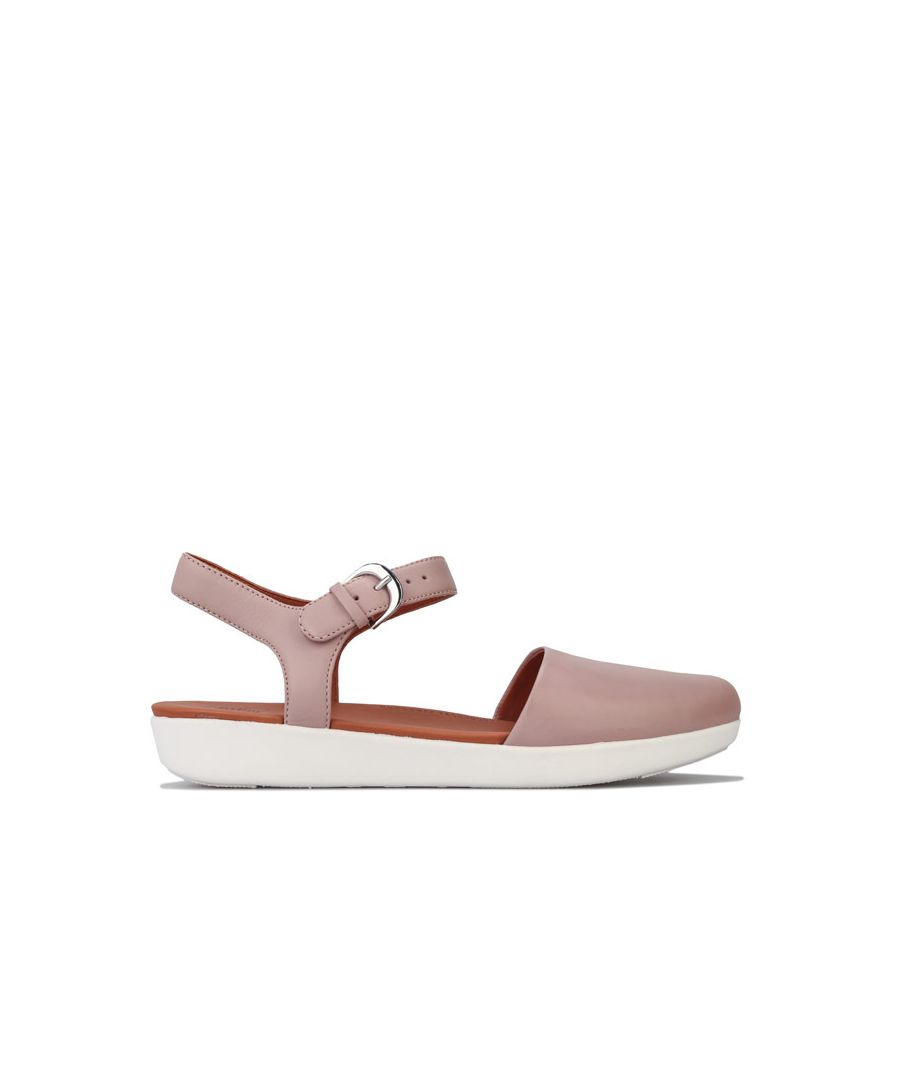 Image for Women's Fit Flop Cova II Leather Back Strap Sandals in Beige