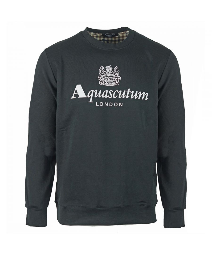 Image for Aquascutum Waterfield Logo Black Sweatshirt