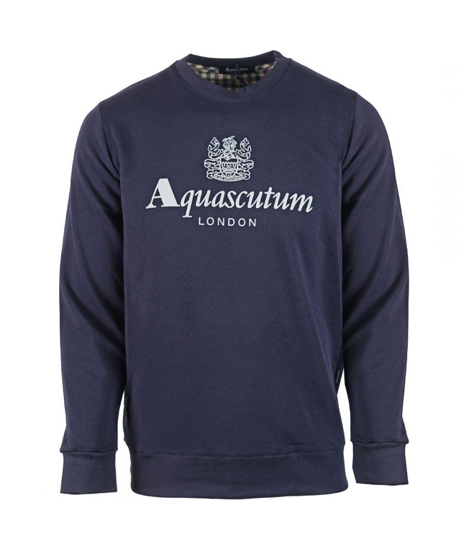 Image for Aquascutum Waterfield Logo Navy Sweatshirt