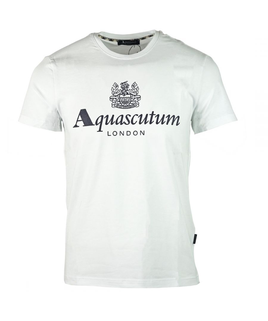 Image for Aquascutum Griffin Logo White T-Shirt