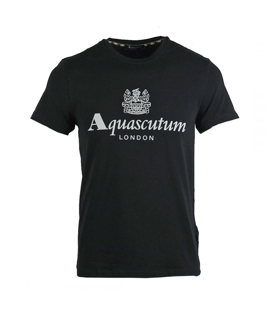 Image for Aquascutum Griffin Logo Black T-Shirt