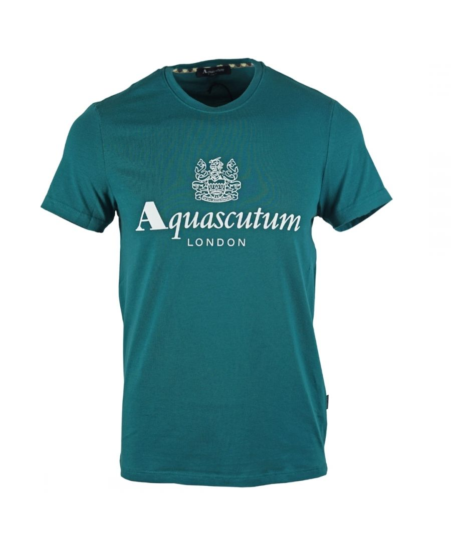 Image for Aquascutum Griffin Logo Green T-Shirt