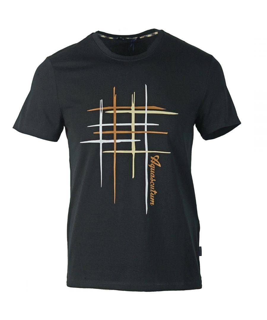 Image for Aquascutum Crew Neck Black T-Shirt