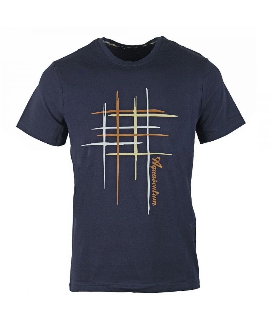 Image for Aquascutum Crew Neck Navy T-Shirt