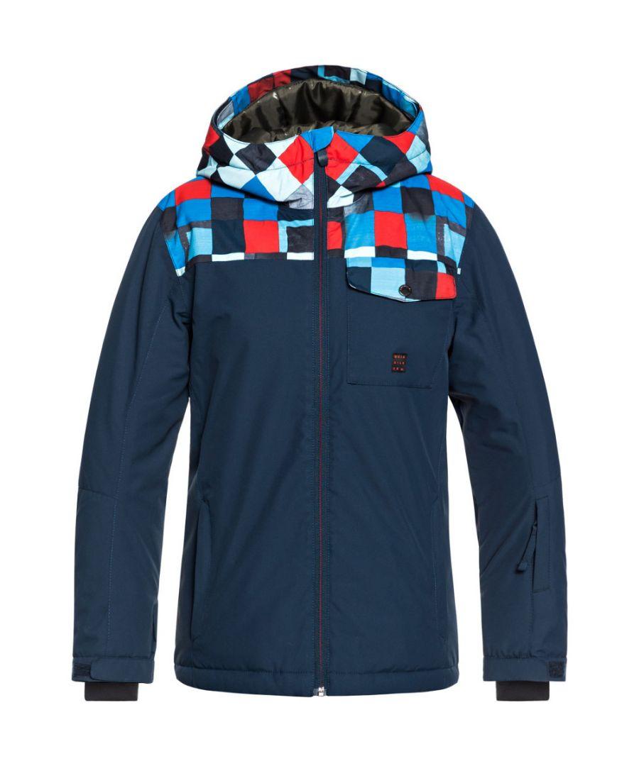 Image for Quiksilver Boys Mission Block Waterproof Warm Ski Coat