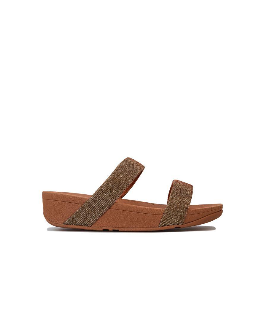 Image for Women's Fit Flop Lottie Glitzy Slide Sandals in Gold