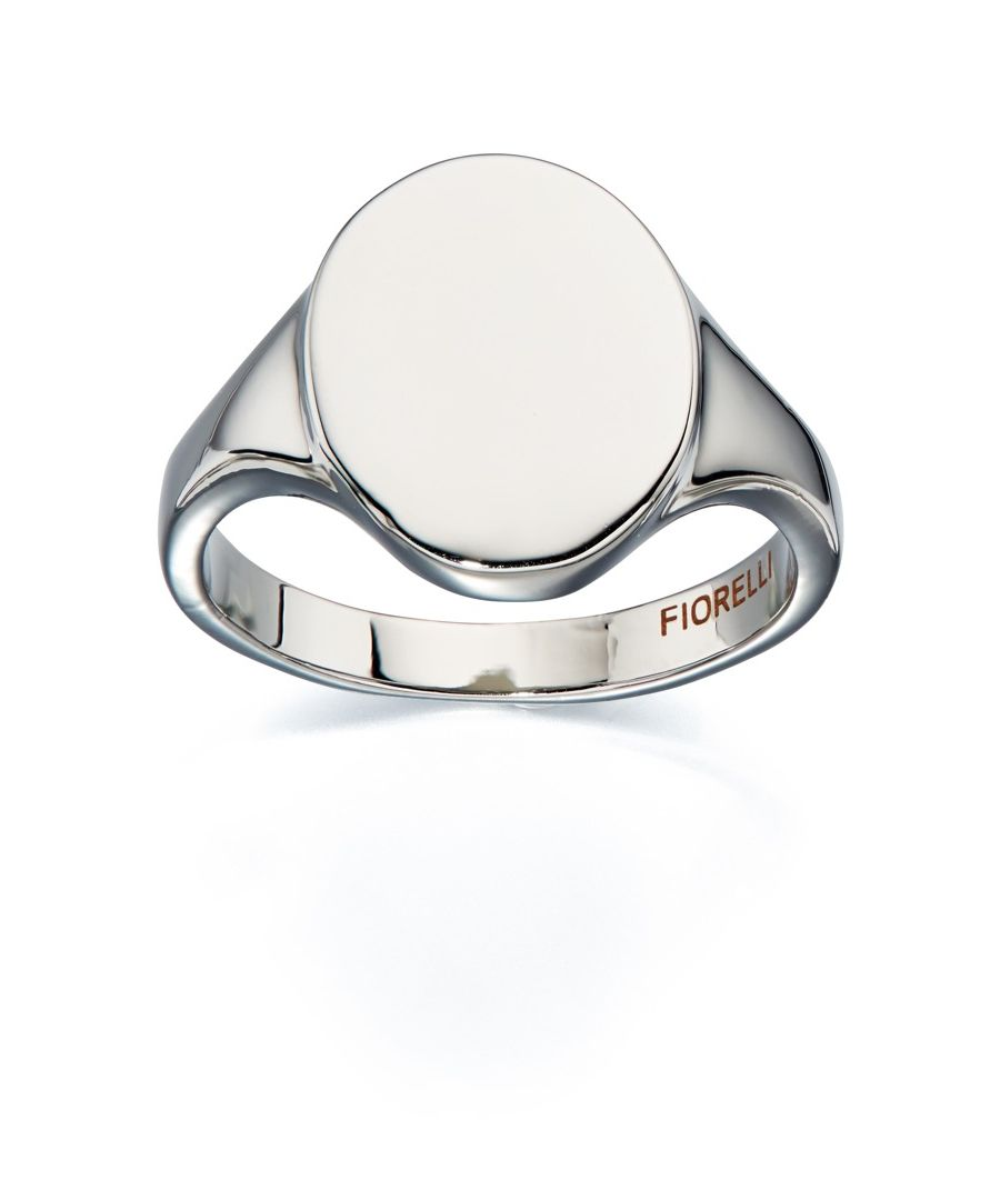 Image for Fiorellii Fashion Imitation Rhodium Plated Signet Ring