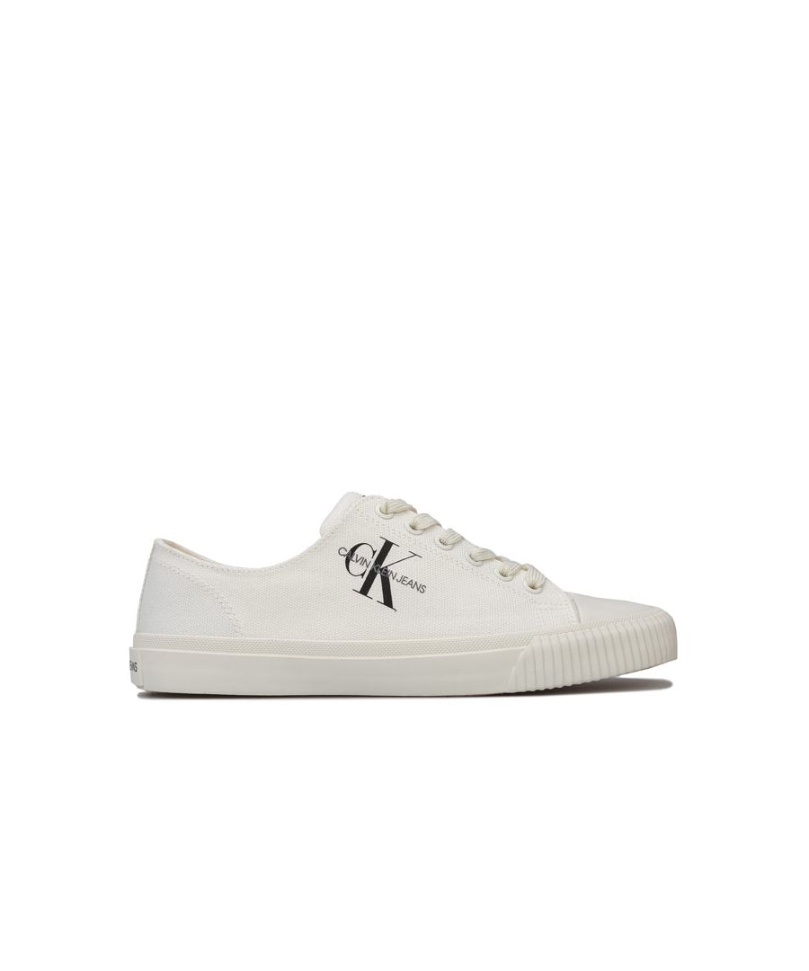 Image for Women's Calvin Klein Jeans Ireland Low Top Lace Up Canvas Pumps in White