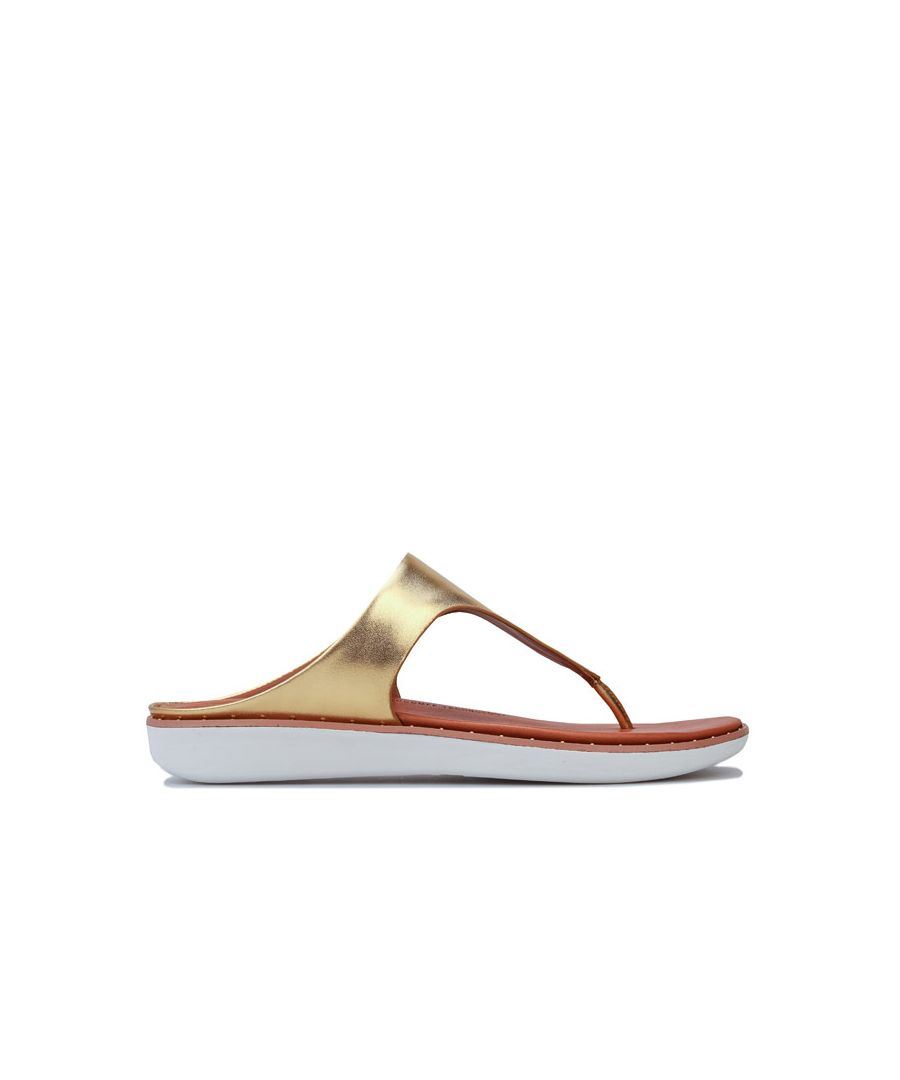 Image for Women's Fit Flop Banda II Toe Thong Sandals in Gold