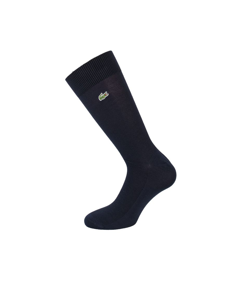 Image for Men's Lacoste Stretch Cotton Socks in Navy