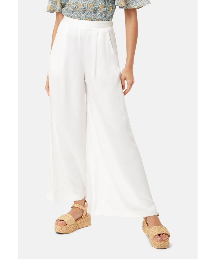 Image for Rouges amd Rascals Wide Leg Trousers in White