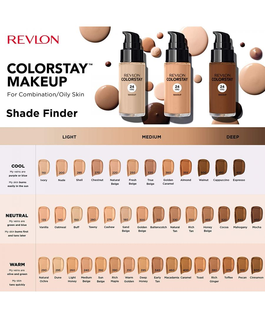 Image for New Revlon Colorstay 24hrs Foundation Comb/Oily Skin 30ml - 150 Buff