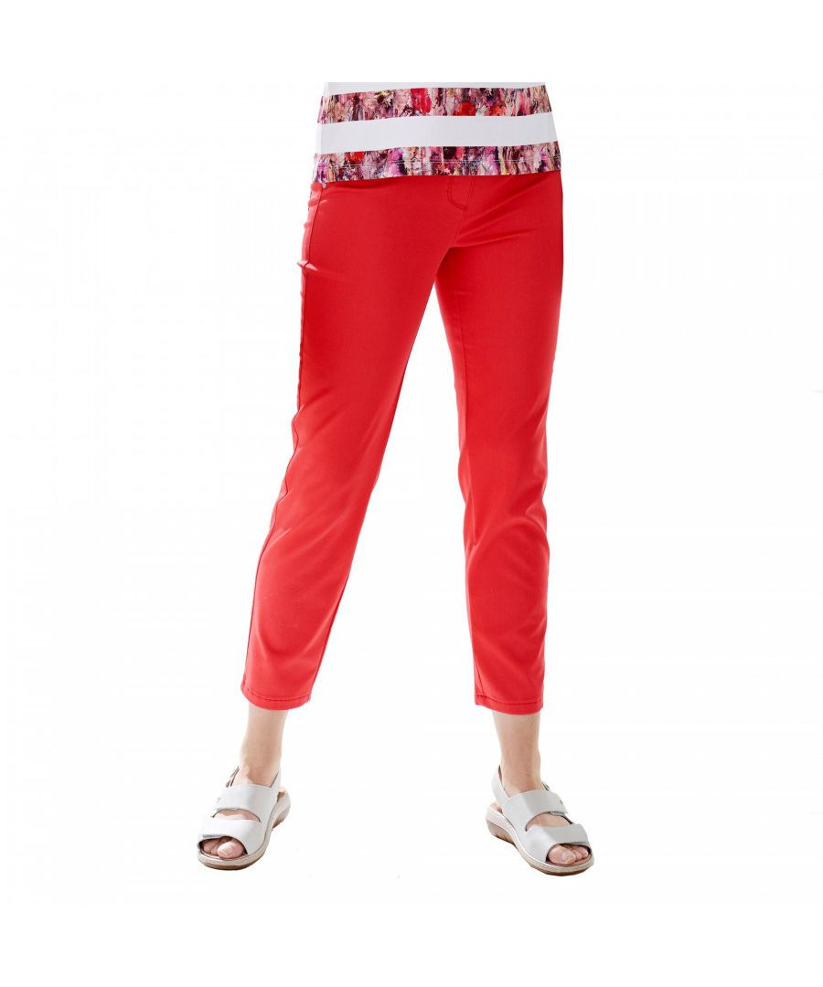 Image for Cropped Red Trouser