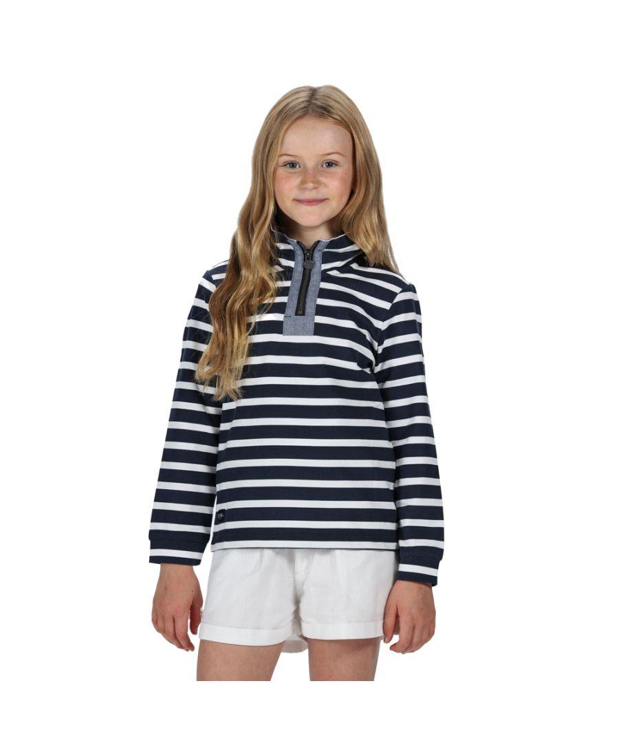 Image for Regatta Boys Benji Quarter Zip Sweatshirt Fleece Jacket