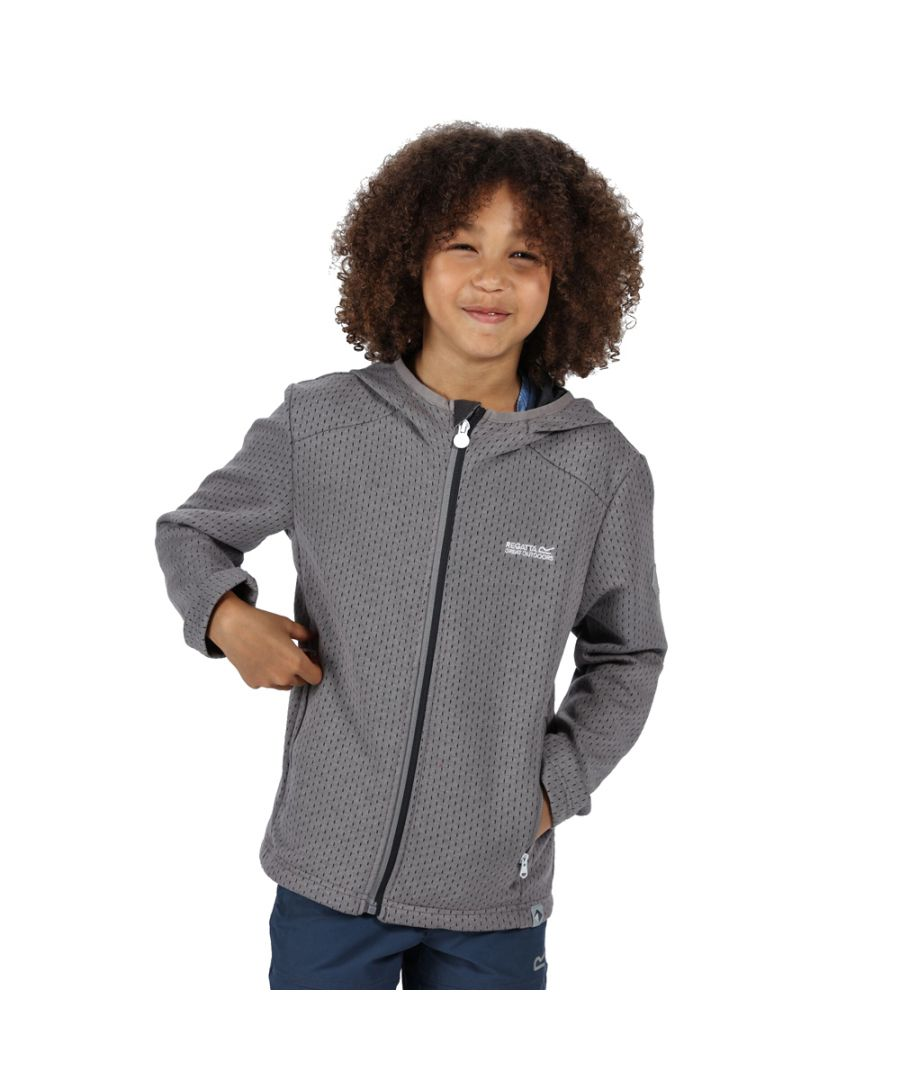 Image for Regatta Boys Orbiter Polyester Full Zip Hooded Fleece Jacket
