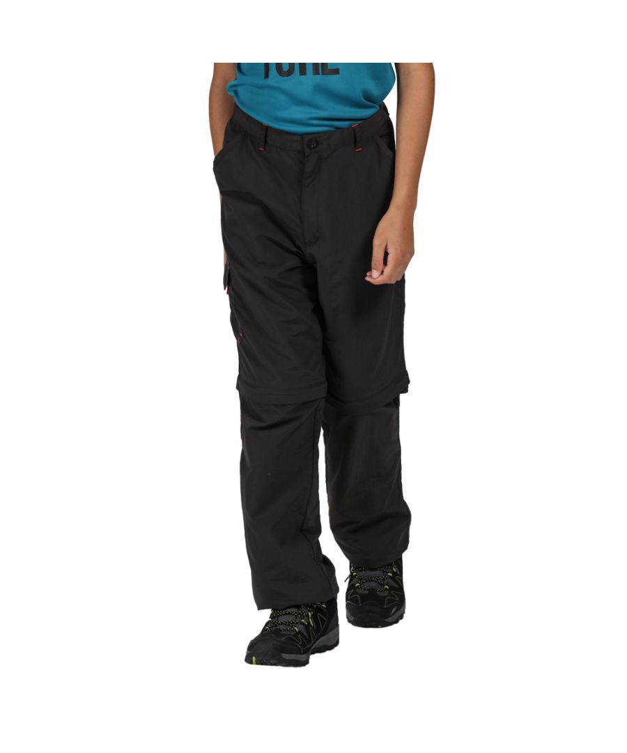 Image for Regatta Boys Sorcer II Zip Off Polyester Walking Trousers