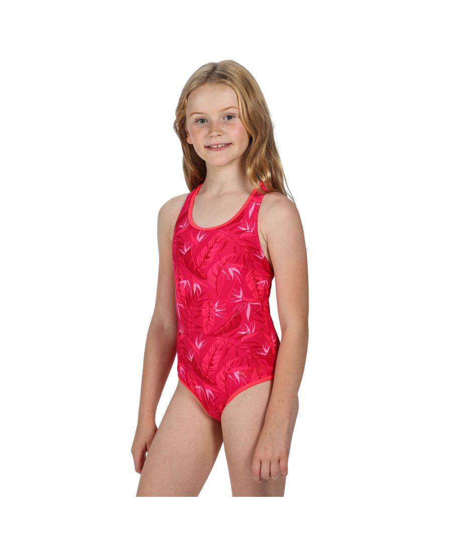 Image for Regatta Girls Tanvi Polyamide Cross Back Swimsuit