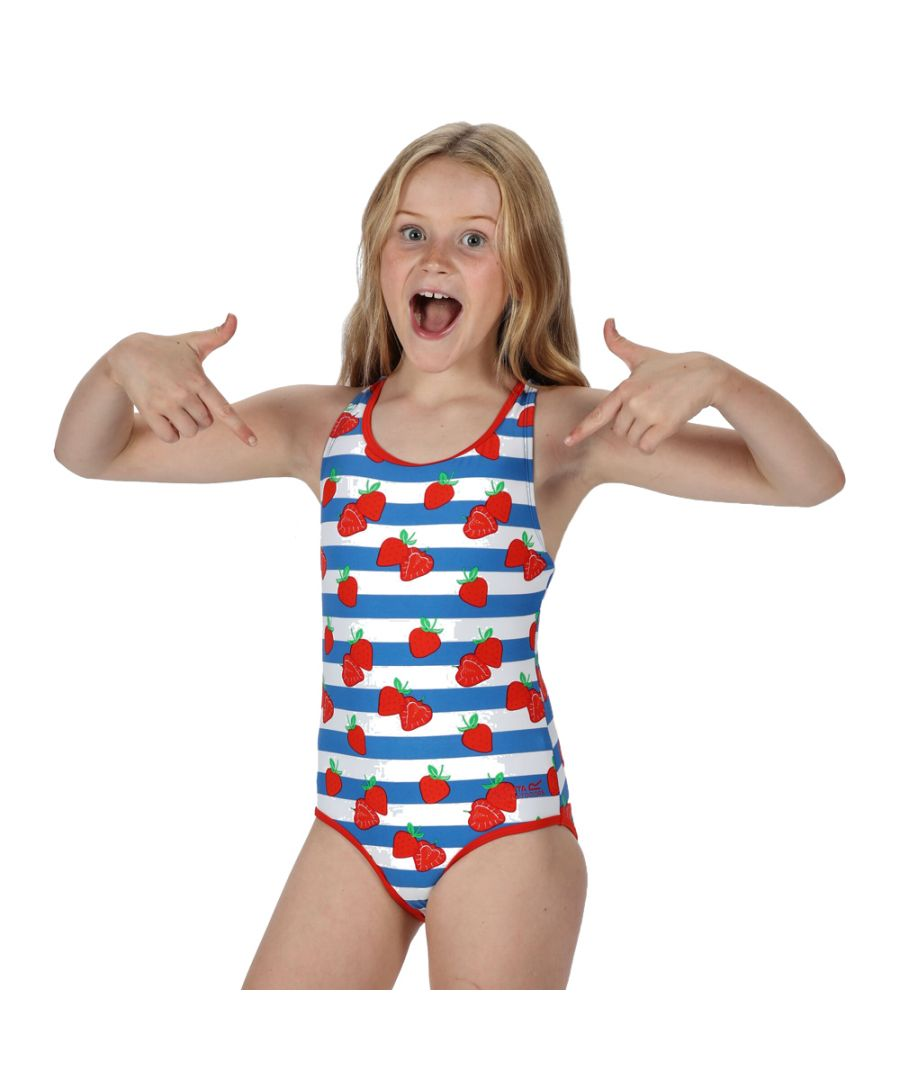 Image for Regatta Girls Tanvi Polyamide Cross Back Swimsuit