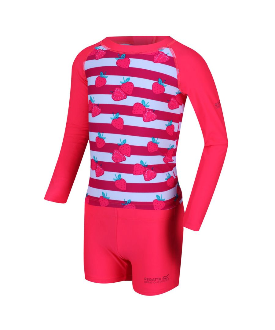 Image for Regatta Girls Valo Rash Polyamide Swim Suit