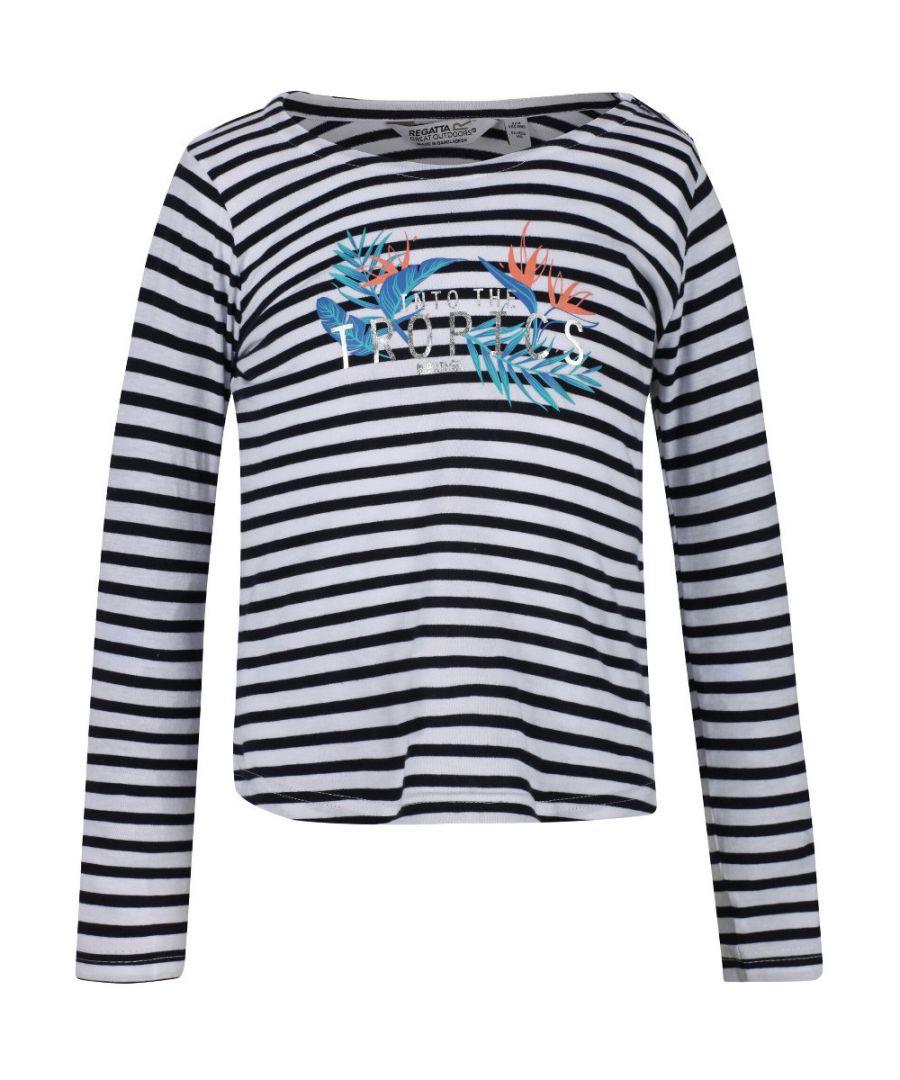 Image for Regatta Girls Carmella Long Sleeve Summer Cotton T Shirt