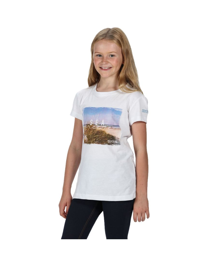 Image for Regatta Girls Bosley III Cotton Graphic Printed T Shirt Tee