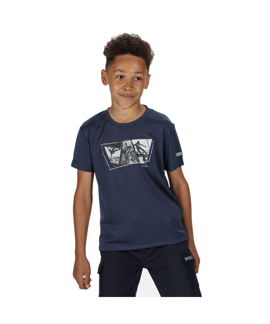Image for Regatta Boys Alvarado V Casual Wicking Polyester T Shirt Tee