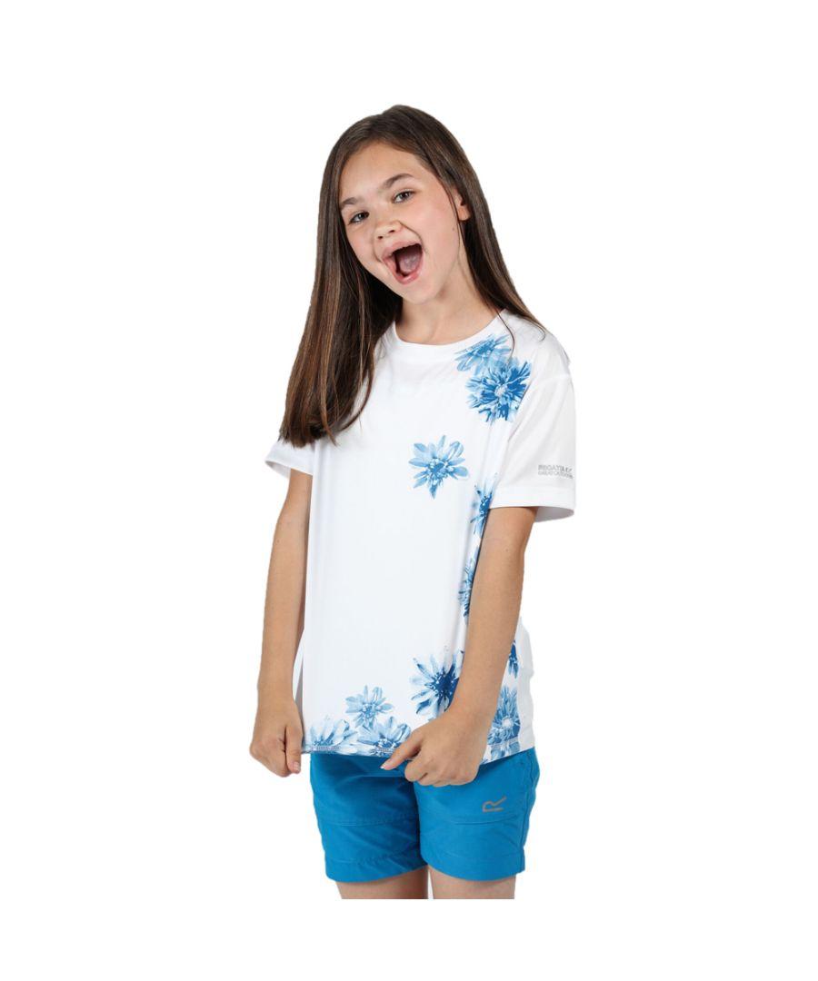 Image for Regatta Girls Alvarado V Casual Wicking Polyester T Shirt Tee