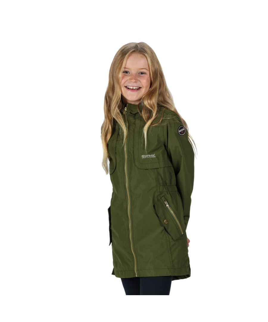 Image for Regatta Girls Tarana Polyester Waterproof Breathable Jacket