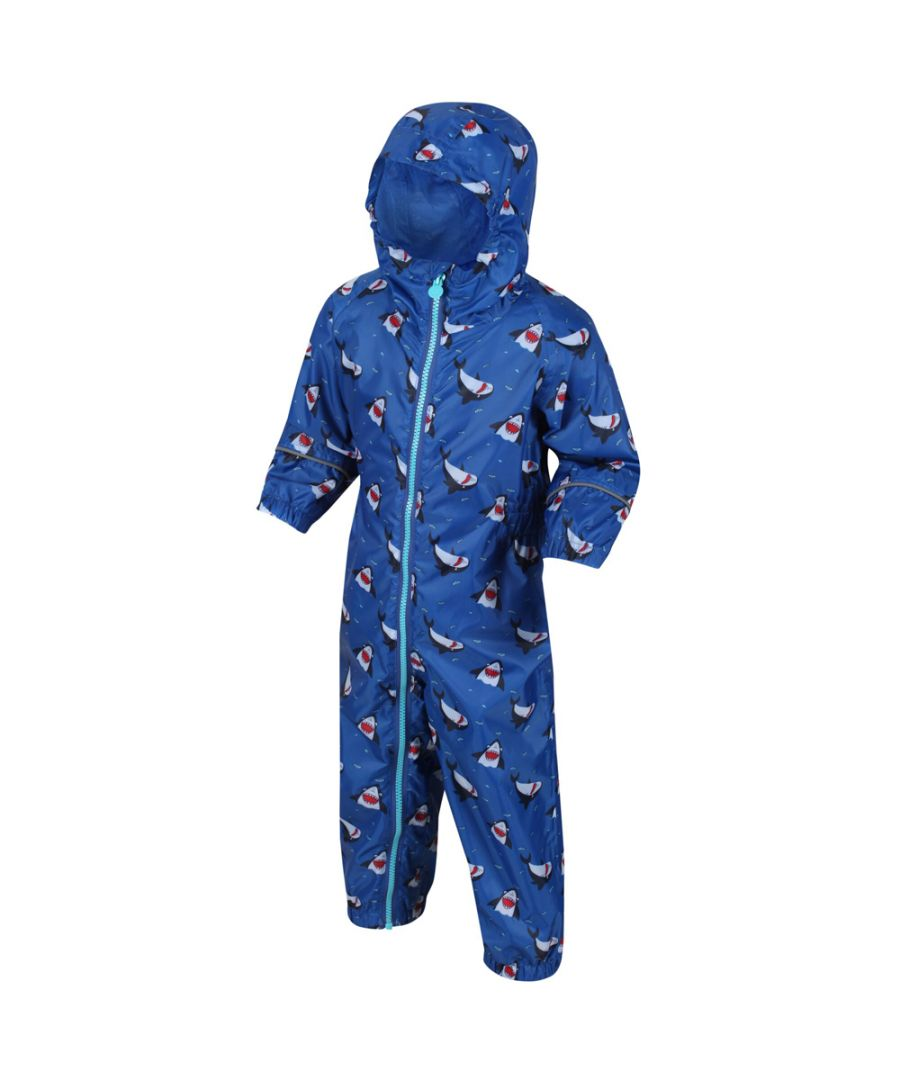 Image for Regatta Boys Pobble Waterproof Breathable Rainsuit Set