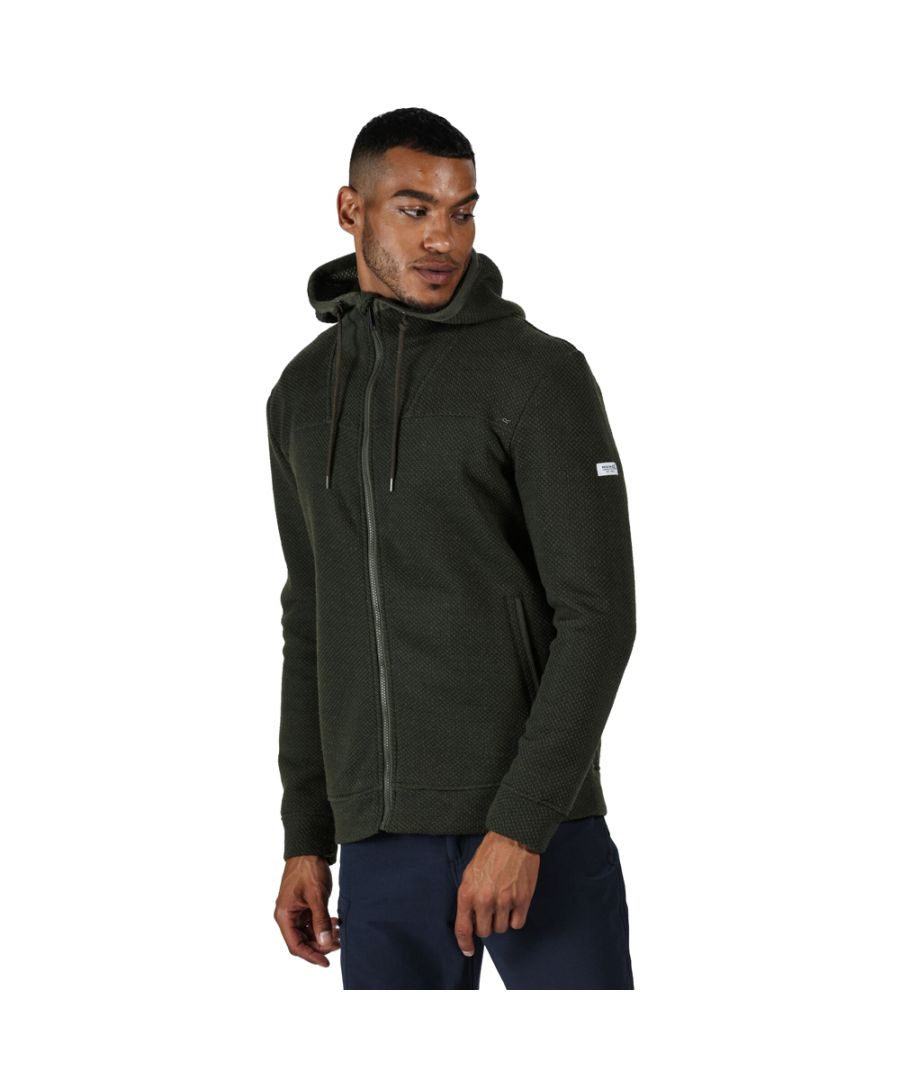 Image for Regatta Mens Laszlo Polyester Full Zipped Hoodie Sweater