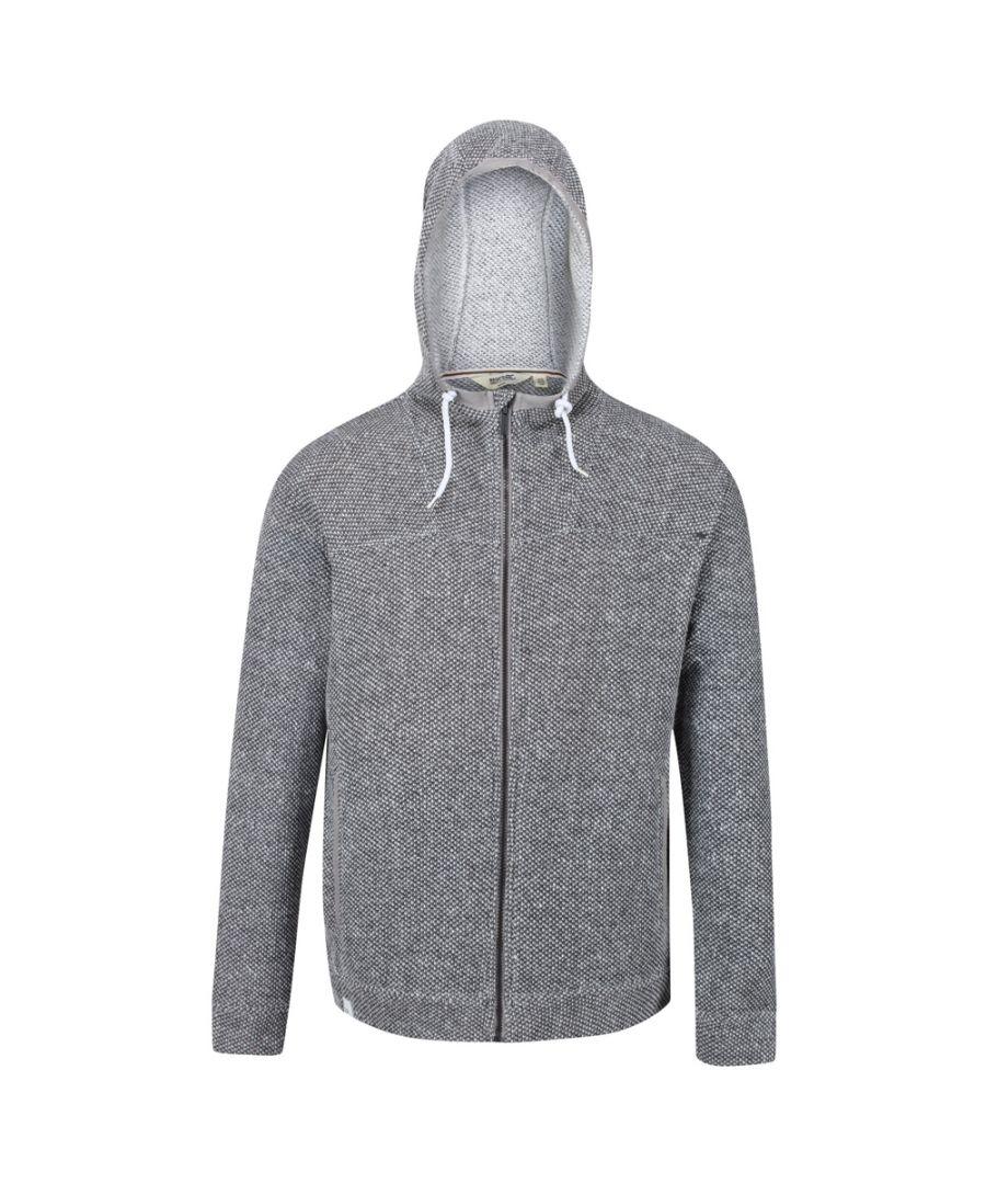 Image for Regatta Mens Laszlo Polyester Full Zipped Hoodie Sweater