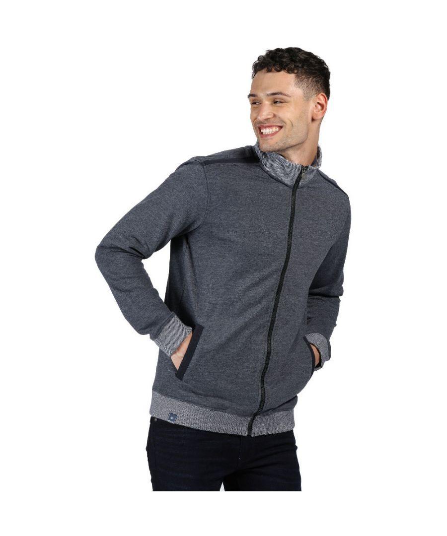 Image for Regatta Mens Everard Polyester Casual Full Zip Sweater