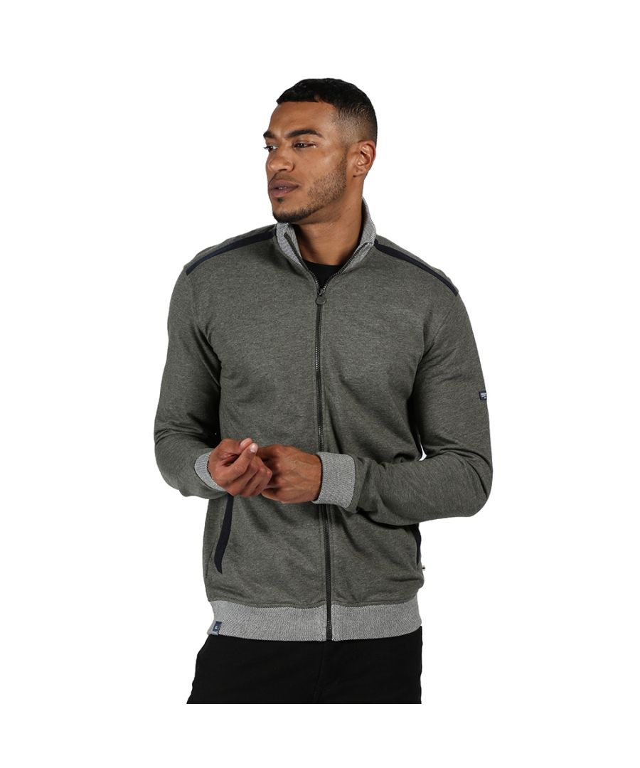 Image for Regatta Mens Everard Polyester Casual Full Zip Sweater