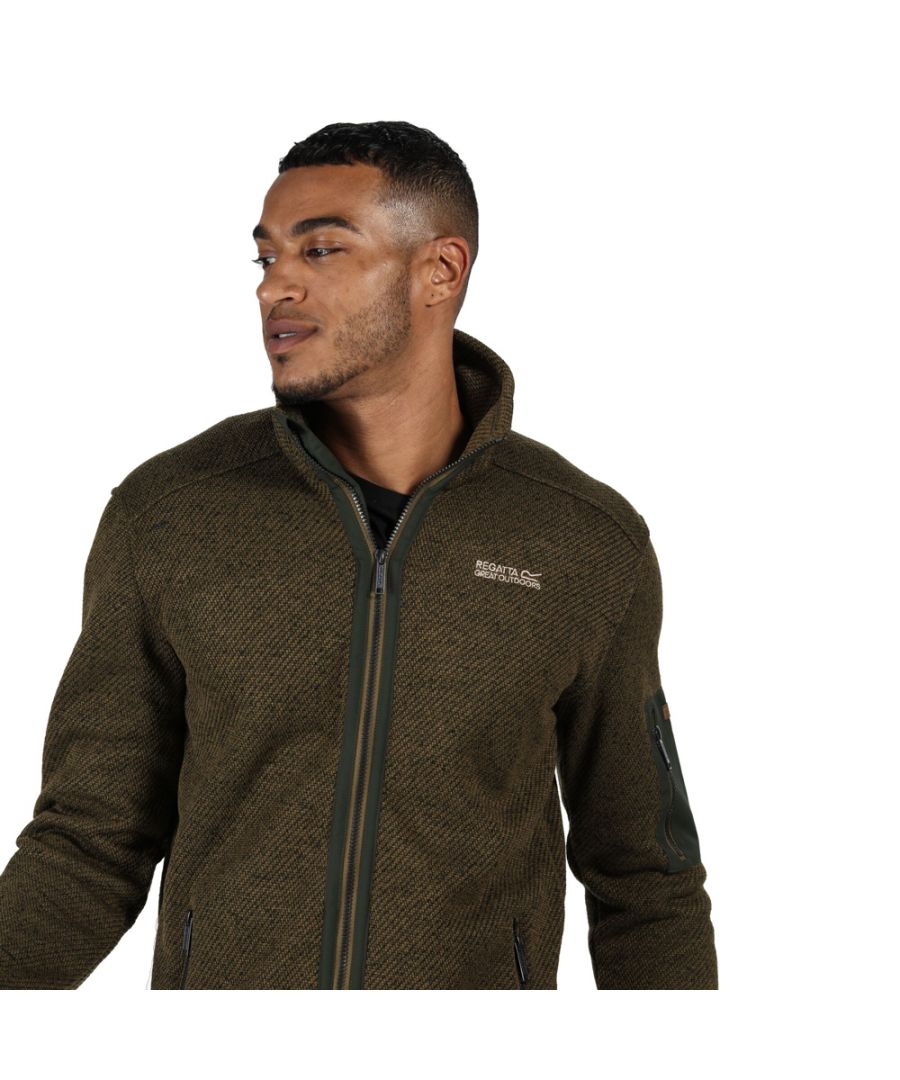 Image for Regatta Mens Garret Polyester Full Zip Outdoor Fleece Jacket