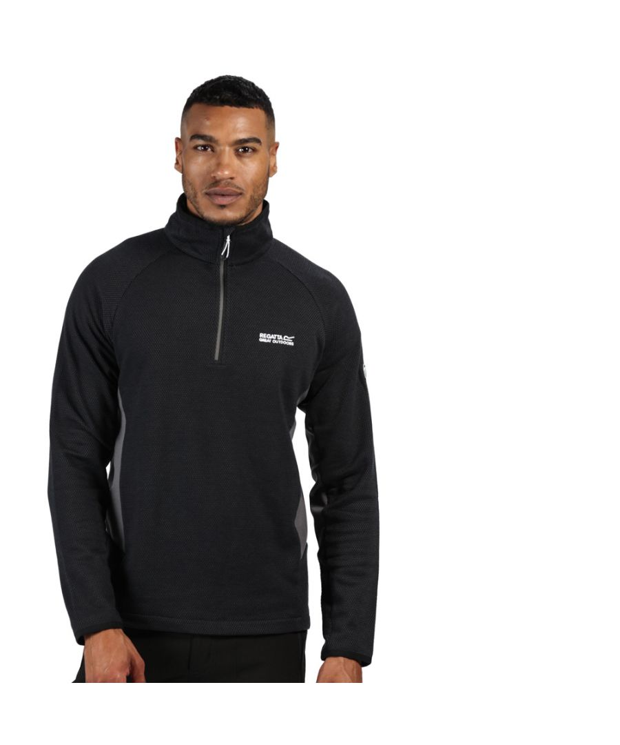 Image for Regatta Mens Highton Half Zip Cotton Fleece Jacket