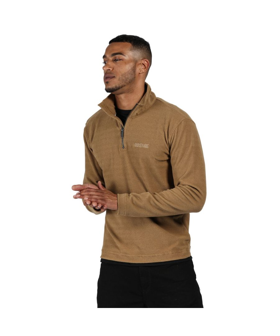 Image for Regatta Mens Elgor II Polyester Half Zip Fleece Jacket