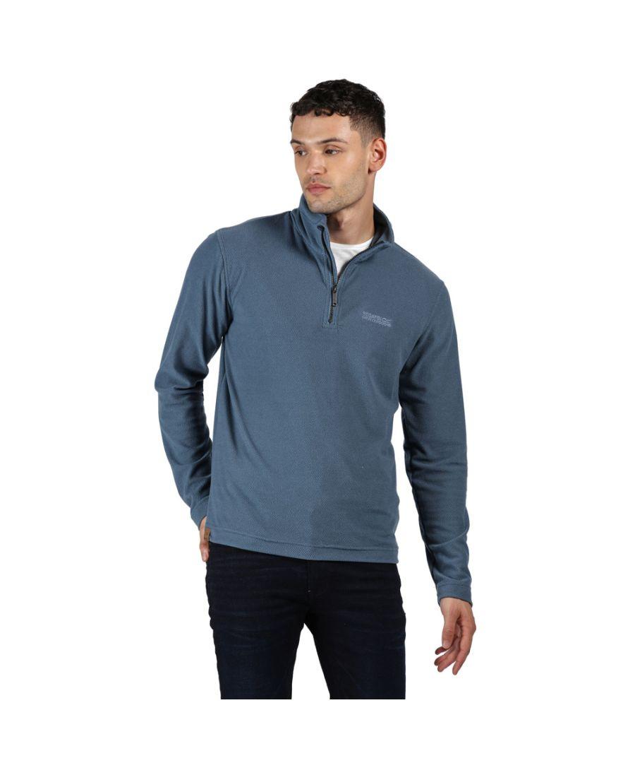 Image for Regatta Mens Elgor II Polyester Half Zip Fleece Jacket