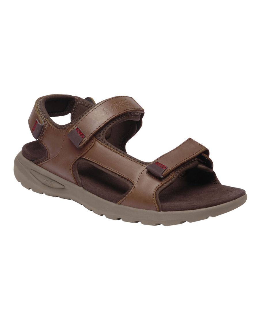 Image for Regatta Mens Marine Leather Lightweight Walking Sandal