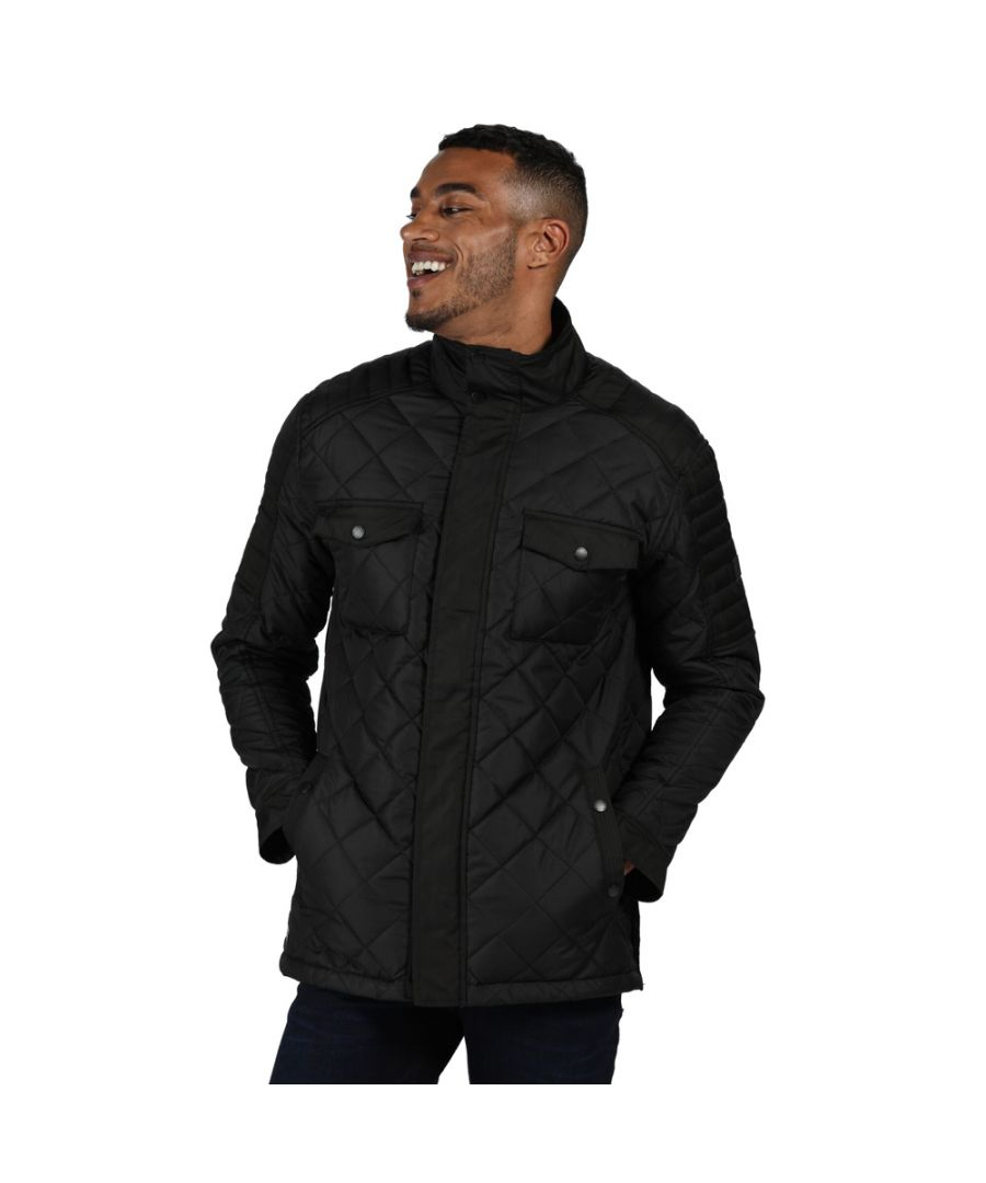 Image for Regatta Mens Lleyton Insulated Quilted Country Jacket