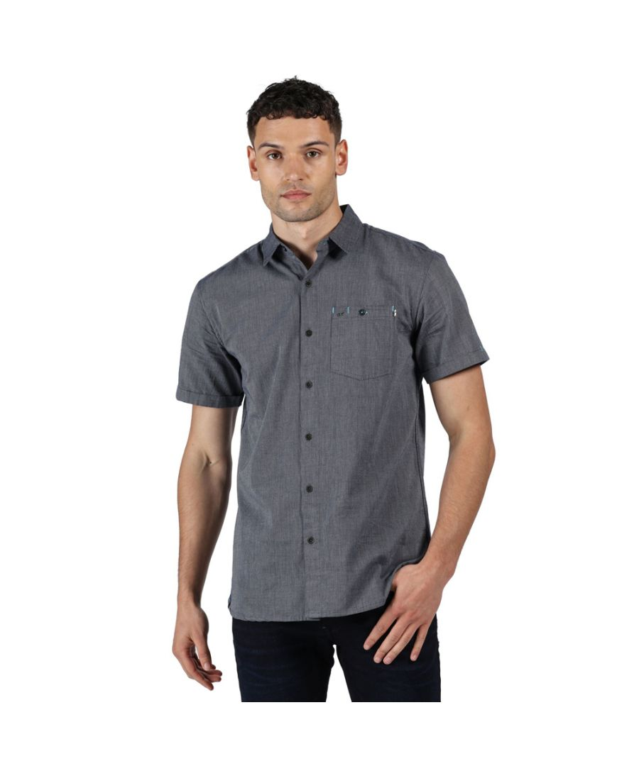Image for Regatta Mens Damari Cotton Oxford Short Sleeve Shirt