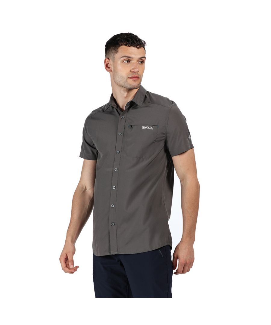 Image for Regatta Mens Kioga II Polyester Plain Short Sleeve Shirt