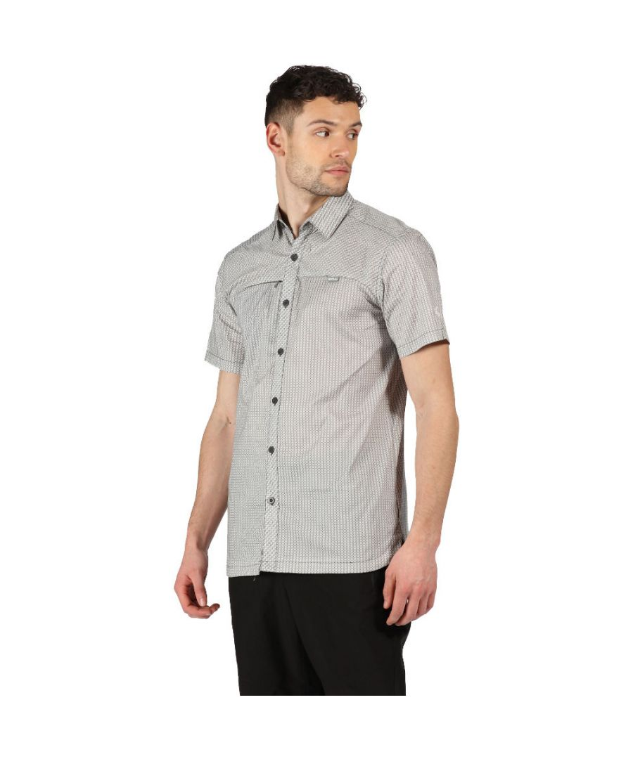 Image for Regatta Mens Honshu V Cotton Checked Short Sleeve Shirt