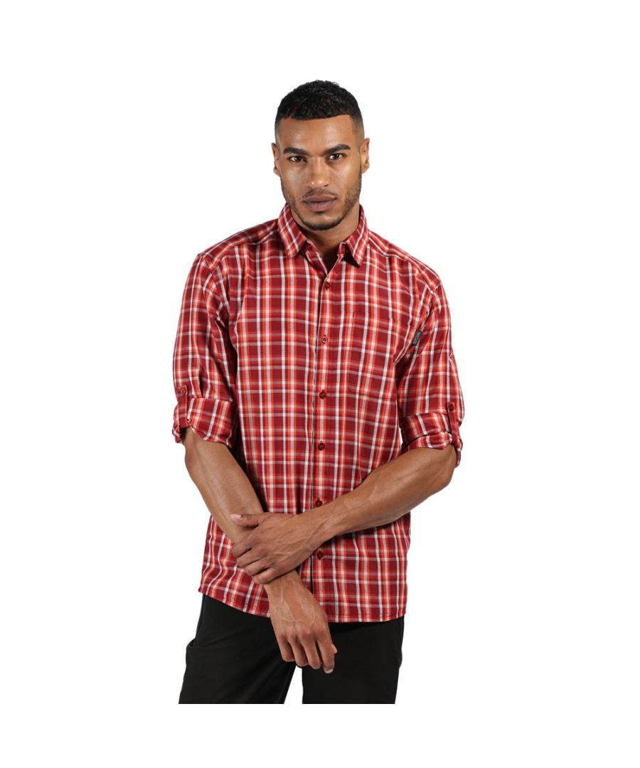 Image for Regatta Mens Mindano III Polyester Checked Long Sleeve Shirt